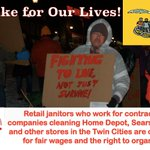 Retail janitors are on strike in MN! RT if you support their fight to Live, Not Just Survive!  #1u #BlackFriday http://t.co/xeazaA7cyV