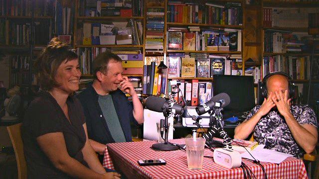 Daisy Campbell, Jon Higgs and Ian Winn recording the latest Litopia After Dark #fnord #illuminati http://t.co/MuqjSVstNO