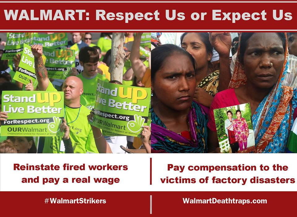 Support #WalmartStrikers & call for justice for ALL Walmart workers! 1,600 actions today: http://t.co/M03EbQUToW http://t.co/q69A1OjQGX