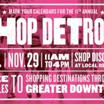 Looking for the perfect gift? #ShopDetroit on #smallbizsat Nov 29, 11 to 4pm. Free shuttle @weknowdetroit RSVP http://t.co/Bv7QkmdZoZ