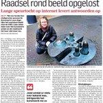"""@ADDelft: """"Raadsel rondom beeld opgelost"""" #Delft Lange speurtocht @Sprankels op internet levert antwoorden op; Barker http://t.co/TobGPFKTOP"""