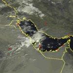 آخر تحديثات الأقمار الإصطناعية تبين سحب ركامية شمالاً ،، مع إستمرار توقعات الأمطار حتى صباح الغد بإذن الله http://t.co/9cmtJlV7Fm