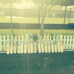 Nice tribute by Irish cricket team before practice today in Dubai.#putoutyourbats http://t.co/riZNwR20hm