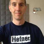 """Sporting Hefner for """"wear your old band t-shirt to work day"""" #6MusicTshirtDay #6MusicTShirtDay http://t.co/mCTAq8FefN"""