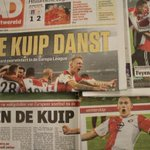De ochtendkranten pakken groot uit met de zege van Feyenoord op Sevilla. Een overzicht: http://t.co/tumMNMA2UC http://t.co/55vZ11rdIG
