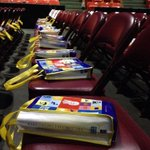 Here are some of the goodie bags for the kids. About 8,000 kids from the area are expected to attend #weday. #halifax http://t.co/HspiPUsWPM
