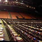 A 360 view of the floor of scotiabank centre as the hours tick by before the start of #WeDay! #halifax http://t.co/yIQn0SzDko