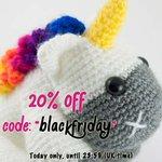 "20% off code: ""blackfriday"". Orders over 10£ (13€~, 16$~) @ http://t.co/70I9FlpaYD @BrightonEtsy @brightonmag http://t.co/pWxS1kOTiL"