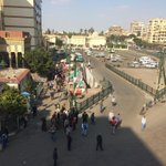 Prayers are over in Giza Square. People are dispersing. No signs of any protesters. #Egypt http://t.co/U6e06ZX7Lb