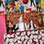 Geeky, kitsch fabrics for binding cloth. The Wizard of Oz! #startrek #starwars #hellokitty #brighton http://t.co/wVewr7fhia