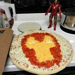 Guapísima la pizza para hacer el finde con los colegas y ganarte el delantal de Monster Chef jaja #Badajoz #Ironman http://t.co/kDiDLaMQMI