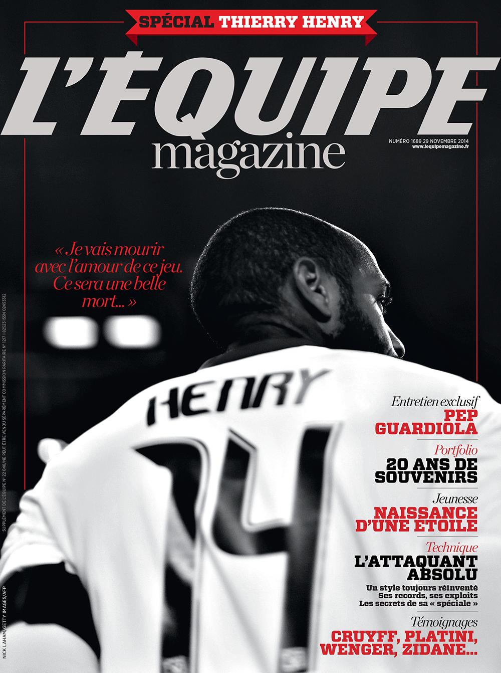 Demain : @lequipemagazine spécial Thierry Henry ! http://t.co/aOehBw4C7A