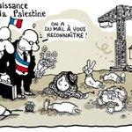 RECONNAISSANCE DE LA PALESTINE. Le dessin du Monde daté vendredi 28 novembre. http://t.co/9vyivc0jqN