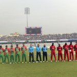 Cricketers from #Bangladesh #Zimbabwe #Pakistan & #NewZealand observe a minutes silence in memory of #PhilHughes. http://t.co/YevS3fbd3P