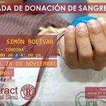 Hoy: Jornada de Donación de Sangre en el Parque Simón Bolívar, desde las 8:00 AM http://t.co/2VfsPVzwsO