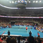 I made it! So happy to be here-The last time I watched a LIVE tennis match was ages ago! The crowd is amazing! #IPTL http://t.co/ot3tcwsatO