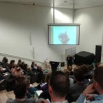 De arena van het symposium #vleermuizenindestad in #delft http://t.co/aOvvGTGxhq