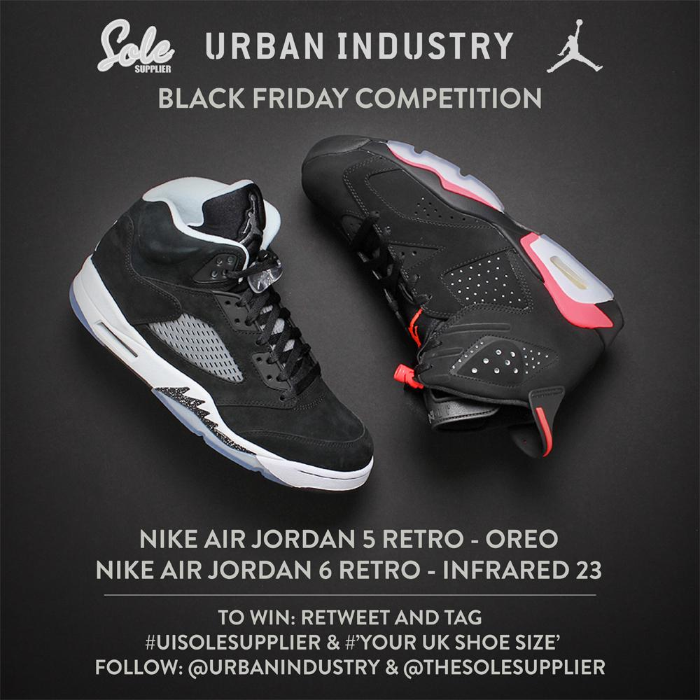 WIN!!! We've teamed up with @thesolesupplier to give away the Nike Air Jordan 6 Black Infrared & Jordan 5 OREO... http://t.co/IvzGpSHbho