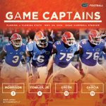 Captains for Saturday will be Antonio Morrison, @TheDanteFowler6, @cgreen_75 and @MGarcia_76. #UFvsFSU http://t.co/9q0WVVvRVR