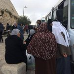 Palestinians from Gaza Strip arrived today in Jerusalem for Friday prayers at Aqsa Mosque. http://t.co/MY9wmdC1n0
