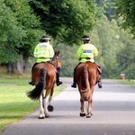mounted police along with community officers on bikes in meadows tonight #keepingpeoplesafe http://t.co/dPE2C58t5x