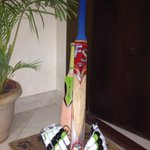 My two year old's bat is out too #PutOutYourBat #63notoutforever #PhillipHughes http://t.co/y6o0MwYLhY