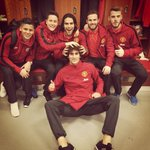 Ready for tomorrow! @marcosrojo5 @AnderHerrera @FALCAO @D_DeGea @fellainiM @ManUtd http://t.co/SGfAK5PcXE