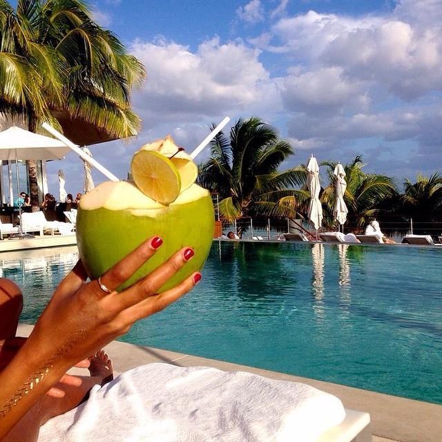 Refresh. @kileehughes // Playa del Carmen, Mexico. #travelnoire #playadelcarmen http://t.co/3uFcsIoZgJ