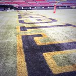 The stage is almost set! Arrived at BC Place today to find Tiger-Cats painted in the end zone. #Ticats #GreyCup http://t.co/K0XP6KWsUP