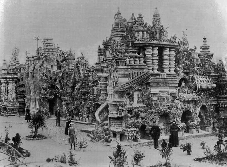 For 33 years, French postman Ferdinand Cheval picked up stones during his daily mail route to build his Palais Idéal. http://t.co/02k2KKEpCc