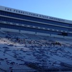 Thx 2 a bunch of workers all over the stadium, getting it ready for tomorrow. Working off the turkey @PennStateFball http://t.co/IxBTtbVivc