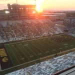 The sun has appeared at Kinnick Stadium.  Getting ready for the regular season finale. GBR! http://t.co/daDiCPSPoQ