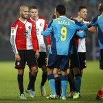 #feyenoord spelers van Feyenoord bleven vandaag binnen, geen interviews. Dit beeld van Pim Ras zegt alles. #feysev http://t.co/G7vjgZlqX9