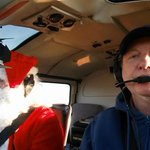 Look who is flying the FOX 29 Shopper Chopper....Santa Claus and Big Al @FOX29philly http://t.co/590oNbtGfD