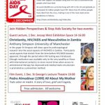 MONDAY 1 Dec is #WorldAIDSDay2014. SIIBS is hosting two commemorative events @sheffielduni @SheffUniWhatsOn http://t.co/i7F58nOkgR