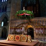 At 4m in diameter the Advent wreath in @York_Minster is thought to be the largest in the world. More Sunday @BBCYork http://t.co/dA1eADbjkj