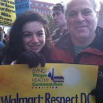 #walmartstrikers #blackfriday Lee and Slive families in solidarity with DC Walmart workers for living wage! http://t.co/2Fjm5DFSyF
