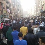 Matariya protests begin again despite earlier dispersal when coup forces killed 3 peaceful protesters #Egypt #Nov28 http://t.co/gyHiiMj8Eb