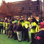 Protesters gather outside D.C. Walmart on Black Friday to protest low wages. http://t.co/QuKsO124HF http://t.co/sS3lVVvfVd