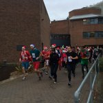And theyre off! The Biosciences Xmas dash in aid of @DevonAirAmb is underway http://t.co/RhVFVNqLAj