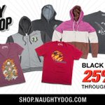 RT @Naughty_Dog: Black Friday Sale! 25% off on the Official Naughty Dog shop. Shop now: http://t.co/fpBlvdaW6A #NDShop http://t.co/bIXhRYG4…