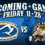 Stampede host Green Bay tonight at 7 at the @PREMIER_Center! RT for a chance to win 4 tix to the game! http://t.co/Sy8CEJP3Uz