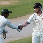 Well done! @BLACKCAPSs Brendon McCullum makes record ton wearing Phillip Hughes initials: http://t.co/ZY9tUsC1eC http://t.co/ws7hrNb9cj