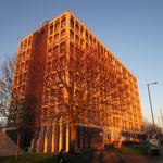 Look how she glows! This is probably the last great Autumn shot of the @WLV_Arts building well see 🍂🍁 http://t.co/zxjdwedzRM