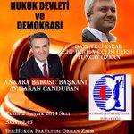 2 Aralık Salı günü, Atılımcı Hukukçular Topluluğunun davetlisi olarak @ATuncayOzkan ile Atılım Üniversitesindeyiz. http://t.co/6Gz9f7anQC