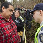 Proud son, Rueben George, watches over his mother during eventful day on #BurnabyMountain http://t.co/wFXbkwPeXf http://t.co/VrXtMrPx1y