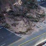 UPDATE: Broken water main creates landslide on Hwy 403 #HamOnt. Pic courtesy of CTV Toronto http://t.co/ghfCRKtyj8 http://t.co/fJ8WnKuxYE