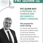 One way to honour a great Canadian & a golden hockey legacy: #PatQuinnWay @bcsportshall @tsn1040 @VanCanucks http://t.co/GK7AYEY8ti