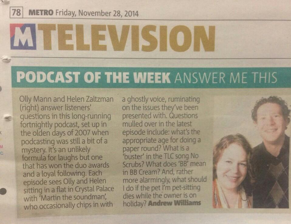 Ooh, look who's Podcast Of The Week in @MetroUK today! (clue: it's not 'Serial') http://t.co/ngtNWTtTFr