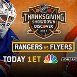 .@NYRangers. @NHLFlyers. Say it with us now. #ThanksgivingShowdown is today! Preview: http://t.co/AhQAj9ymfV http://t.co/d6fHmsUUx2